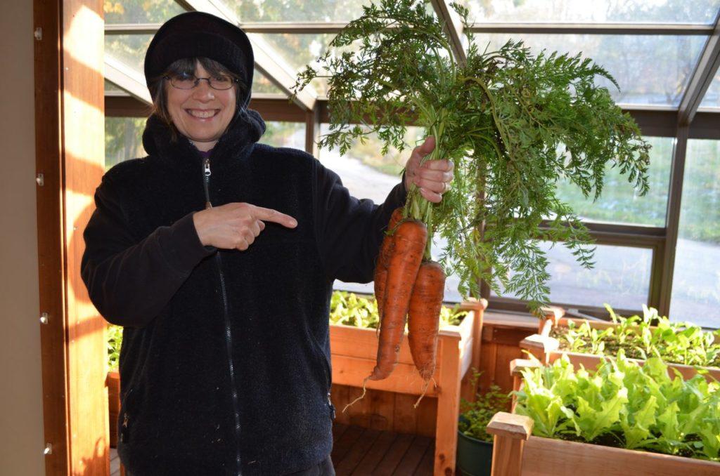 Alayne with carrots