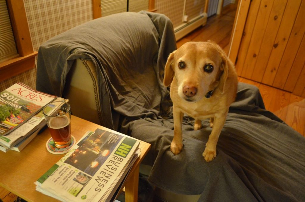 Darla with beer 2