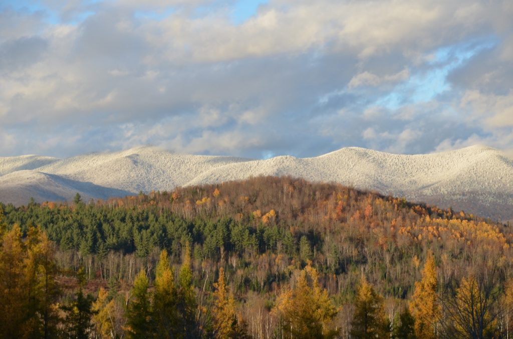 Mountains with snow Oct 23